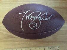 Tiki Barber #21 NY GIANTS Signed Junior Size Football With Hologram COA