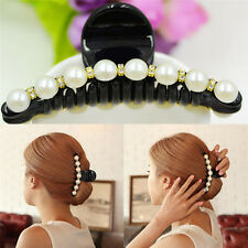Cute Women Lady Girl Pearl Crystal Clip Clamp Claw Haedpiece Hair Accessory BH