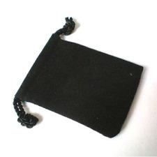 Lot 10 Bourses en Velours noir - 7 x 9 cm - Pierres précieuses / Diamants