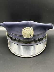 Vintage Fire Department Dress Cap Fireman's Hat With Badge United Hatters Co
