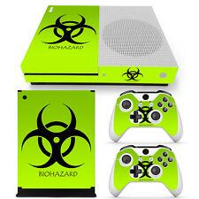 XBOX ONE S Skin Design Foils Aufkleber Schutzfolie Set - Biohazard Motiv