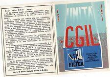 TESSERA  CGIL  FILTEA   1971   PROVINCIA  DI  BRESCIA