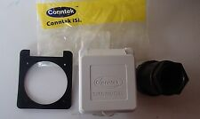 *NEW* Conntek RV Camp Power 50A 125/250V Power Inlet Square Housing 80855-A-SQWT