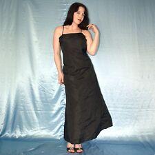 rascheliges SATIN SOMMERKLEID* S 36 schwarz Abendkleid* Etuikleid* Cocktailkleid