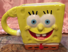 SpongeBob SquarePants Two Faces Coffee Tea Mug Cup 2005 Viacom Yellow