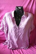 ladies new with tag short sleeve bedford shirt .size14 colour purple