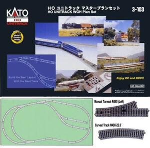 Kato 3-103 HO Scale Unitrack WGH Plan Set