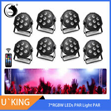 8Pcs Stage Lighting 7 Led Rgbw Dmx Party Dj Disco Wedding Par Can Uplight Remote