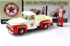 1:18 Greenlight Ford F-100 Pick-UP *TEXACO* + Gas Pump NEW bei PREMIUM-MODELCARS