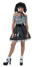 Women's Gothic Poodle skirt Costume Halloween Costume Greaser Size 7-9