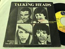 "TALKING HEADS - SPANISH 7"" SINGLE SPAIN PROMO SIRE 83 BURNING DOWN - NEW WAVE"