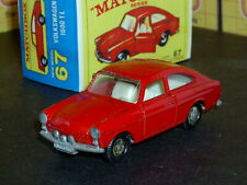 Matchbox Lesney Volkswagen VW 1600 TL 67 b1 red tow 4 stud SC5 V/NM crafted box