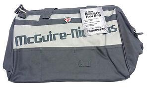 NEW McGuire Nicholas 22316 16-Inch Wide Builder's Tool Bag