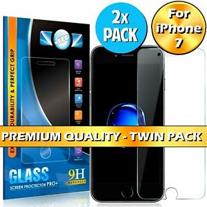 Screen Protector For Apple iPhone 7 - Tempered Glass 100% Genuine