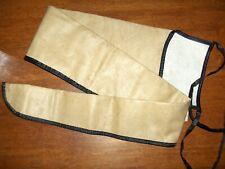 """Vintage JM Bucheimer 48"""" long, soft leather, lined, rifle or shotgun case"""