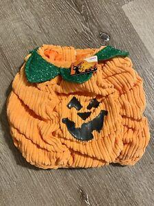 New Jack O Lantern Pumpkin Dog Cat Orange  Halloween Pet Costume Size Small NWT