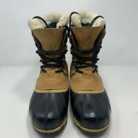 Sorel Mens Caribou II Snow Winter Boots Brown Leather Lace Up 8 M EUR 39