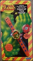 NEW/NOS 1991 Troma Toxic Crusaders Toxie Clean Up Time Watch Playmates 2602