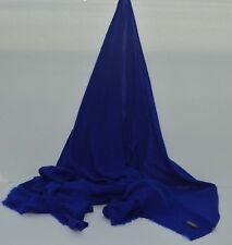 Royal Blue Cashmere Scarf Shawl Stole Wrap Throw100% Pashmina Nepalese Handmade