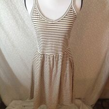 Gap Xs Navy Striped Skater Dress V Neck Sleeveless Jersey Soft 133b341cb