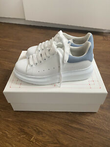 Size UK 5 - Alexander McQueen Oversized White/Blue Trainers