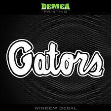 "Florida Gators_Gators Text - NCAA - White Vinyl Sticker Decal 5"""