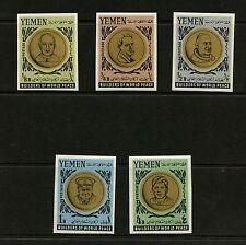 Yemen 1966 #Mi202B-6B  Nehru, Kennedy, Churchill, Pope John IMPERF 5v. MNH  K522