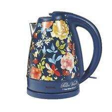 The Pioneer Woman Fiona Floral/Blue Electric Kettle, 1.7-Liter