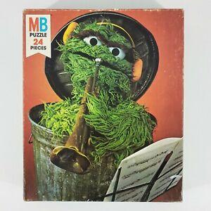 Vintage 1983 Milton Bradley Sesame Street Muppets Oscar The Grouch 24pc Puzzle