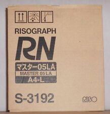 Riso S-3192  Master 05LA Rollen Risograph RN A4-L für RN 2000 2100 2205 2500 OVP