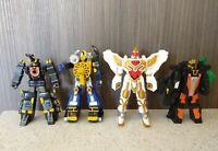 Lot Of 4 Power Rangers Megazord 6'' Bandai Original Action Figure  Toys 2005