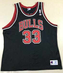 Vintage Chicago Bulls Scottie Pippen #33 Basketball NBA Champion Jersey Size52