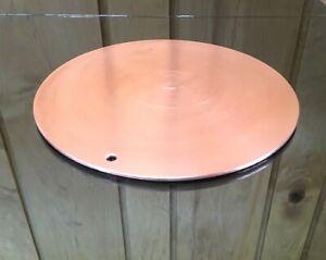 "1/8"" Thick Pure Copper Heat Diffuser 9"" Circle Stove Topper Defrost Plate"