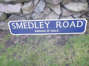 "20th Century Metal Street Sign...""SMEDLEY ROAD""...Bar,Man Cave,Display,Prop!!"