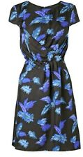 BNWT Phase Eight /8 100% Silk  Feathers Print Dress Size 16
