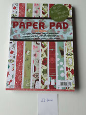 Scrapbooking Papierblock, beglimmert, Weihnachten, Studio Light