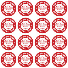 24 x 40MM TOY FACTORY CHRISTMAS STICKERS FROM SANTA KIDS GIFTS TAG PRESENTS