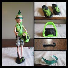 Monster High Deuce Gordon Scaris Fright Green snake shoes earring sunglasses bag