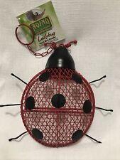 Lady Bug Fun Feeder Unique Perch Hanging Lightweight Visible Mesh Wild Bird Easy
