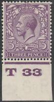 1924 BLOCK CYPHER SG423 3d VIOLET CONTROL T33 MINT HINGED