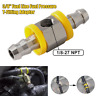 """1/8-27 NPT 3/8"""" Fuel Line Fuel Pressure T-Fitting Adapter w/2 Hose Clamps Steel"""