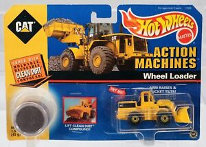 Hot Wheels Action Machines CAT Wheel Loader Set #17993 New NRFP 1997 Yellow 1:64