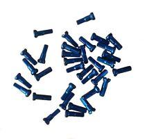 cnSPOKE CN 14mm, Set of 36 Aluminium, Anodized Blue, Fixie Bike Spoke Nipples
