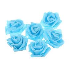 10pcs Blue Foam Roses Artificial Flower Wedding Bride Bouquet Party Decor