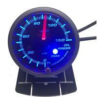 Oil Pressure Gauge 52mm PSI Audible Alarm for Nissan Patrol BLUE BACKLIT
