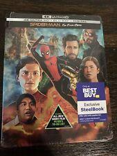 Spider-man Far From Home STEELBOOK (4k + Blu-ray +Digital) SEALED! NEW!