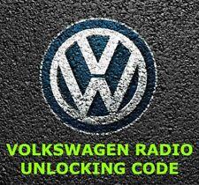 VW RADIO PIN CODE UNLOCK | RCD 200 210 300 310 500 510 GAMMA BETA RNS 310 315 ✅
