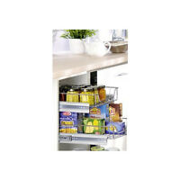PULL OUT WIRE BASKET FOR KITCHEN BASE UNIT CUPBOARD LARDER  SOFT CLOSE RUNNERS