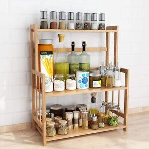 3-Tier Standing Spice Rack Tribesigns Kitchen Bathroom Countertop Storage Shelf