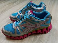 Reebok Zigtech Women's Running Shoes Size 6 Ladies Pink Blue Cross Fit Athletic